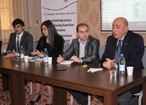 """""""Avrointeqrasiya – Beynəlxalq Gənclər Forumu"""" davam edir."""