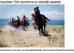 Türk Oyunları Kırgızistan' da Oynanacak