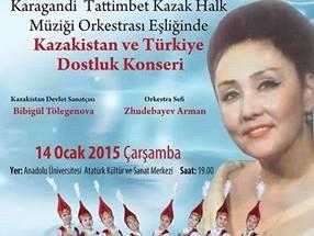 Kazakistan ve Türkiye Dostluğu Konserleri Başlıyor.
