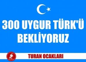 300 Uygur Türkü İçin Turan Ocakları Eylem Yaptı