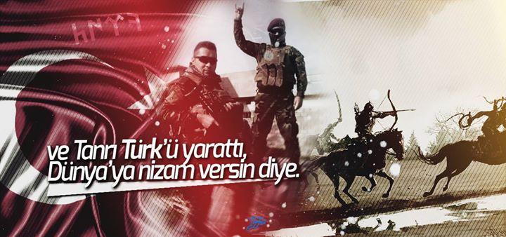 tanrı türkü yarattı dünyaya nizam versin diye