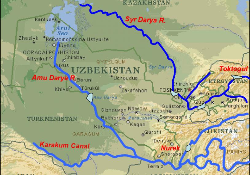 orta asya su haritası